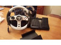 PS2 Steering wheels and peddles Boxed
