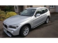BMW X1 X-Drive 2.0D SE model, 180bhp, 4WD, Silver with FSH and only 65k miles