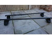 Halfords Exodus (Thule alternative) roof bars, fitting kit & foot pack FP4 - used, v good condition