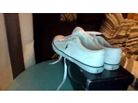 POLO RALPH LAUREN TRAINERS - WHITE - SIZE 6 1/2