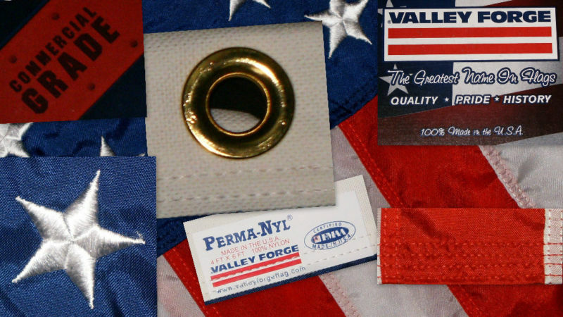 Commercial Grade- Valley Forge  American Flag 4