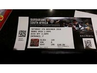 South Africa vs Barbarians Wembley