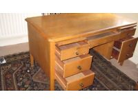 Solid robust wooden desk in good condition