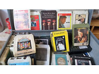 8 Track music cassettes.