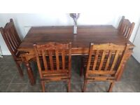 Dining table with 4 chairs/matching coffee table