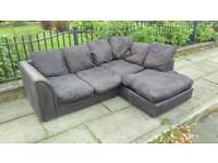Black corner sofa (free delivery)
