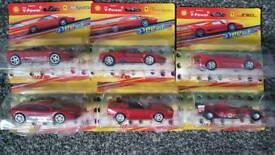 Ferrari model cars x 6