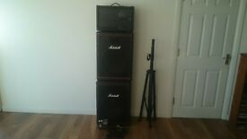 PEAVEY XRD 680S PA WITH MIXING OPTIONS 8 OUTPUT, 2X MARSHALL SPEAKERS,