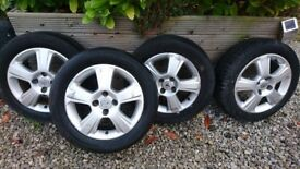 4 x Alloy wheels 16 inch from vauxhall corsa