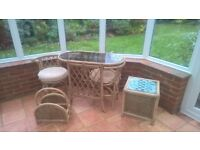 Conservatory Furniture - Table and 2 chairs +