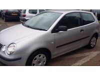 VOLKSWAGEN POLO SILVER 1.2*2005 REG*ONLY 65K LOW MILES*FULL YEARS MOT*EXCELLENT VALUE AT ONLY £1695*