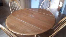 Ercol round dining table