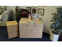 Office desk come storage with key