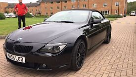 BMW 6 SERIES 3.0 M SPORT CONVERTIBLE AUTO 2006 (56) REG, BLACK. PRICE £8350