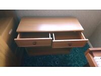 2 Drawer and Shelve Unit