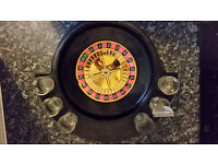 Roulette Drinking Game with 6 Shot Glasses CASINO PARTY GAME SPIN N SHOT ADULT DRINKING SET