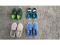 4 Pairs of Boys Junior Size 10 Shoes