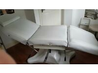 Used professional beauty couch and trolly