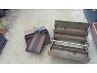 2 Metal Tool Boxes