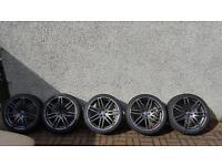 "Set of 5 AUDI rs4 alloys 19 "" 5-6 mm thread Vw Skoda"