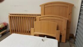 Cot bed 2in1 + mattress