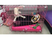 Pink dog crate (small 24 inch)
