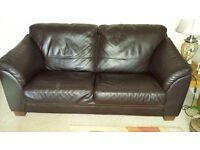 Two Italian leather 3 seater sofa