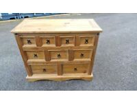 Solid pine chest of draws ,possible delivery 07989088223
