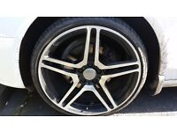 """Audi Alloys 20"""" with tire very good condition"""