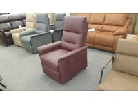 CareCo Milano Rise & Recliner Armchair Faux Leather Single Motor Can Deliver
