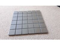 Grey brown porcelain style mosaic tiles (30cm x 30cm) (6 x 6 squares)
