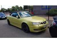 2004 9-3 93 VECTOR 2.0 PETROL MANUAL 175 BHP CONVERTIBLE 4 SEAT MOT N ASTRA FOCUS MODIFIED COUPE