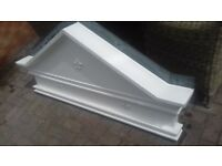 DOOR CANOPY WHITE FIBRE GLASS GOOD CONDITION
