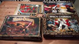 Space crusade x 2 + Expansions & Hero Quest Incomplete