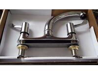 Bristan Value Lever Deck Sink Mixer Tap Chrome With Ceramic Disc VAL DSM C CD