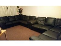 black corner suite/SOFA £200 ono CAN LOWER PRICE A BIT ! NEED GONE ASAP