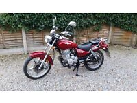 Lexmoto Arizona 125 red, learner legal, one year old motorcycle