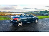 206cc, 1yr mot, black leather, fully working retractable roof no issues, cd player, clean tidy car
