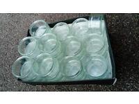 Box of small glass jars