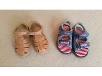 Size 8 boys' sandals - 2 pairs