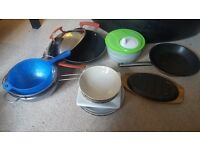 Assorted kitchenware and crockery - perfect for students