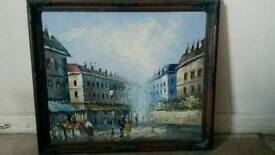 20th century painting in frame