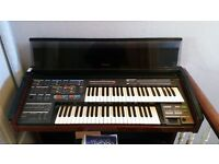 VINTAGE YAMAHA ORGAN (ELECTONE MC 600) w/ MANUAL & STOOL. MIDI-COMPATIBLE £70 ono