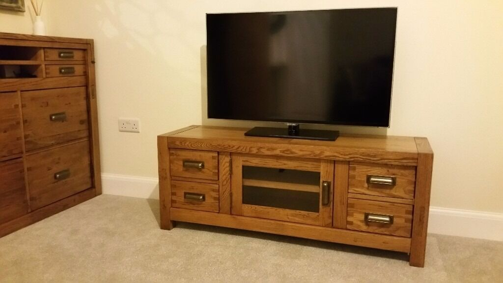 Nibbed Solid Oak TV Cabinet Media Unit Montana by Halo  : 86 from www.gumtree.com size 1024 x 576 jpeg 57kB