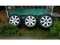 Set of 4 alloy wheels vw passat