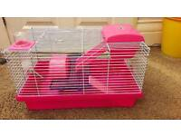 Pink Rosewood Hamster cage