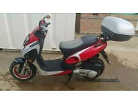 "2006 YIYING YY 125cc SCOOTER, FEB 2018 MOT & ONLY £17 A YEAR TAX, 2 KEYS, ""ONLY 5694 MILES"" = £595"