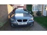 BMW 520d, 2007. Black leather, great condition !