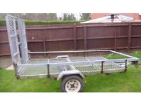 used galvonised car trailer