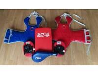 Taekwondo body armour and pads